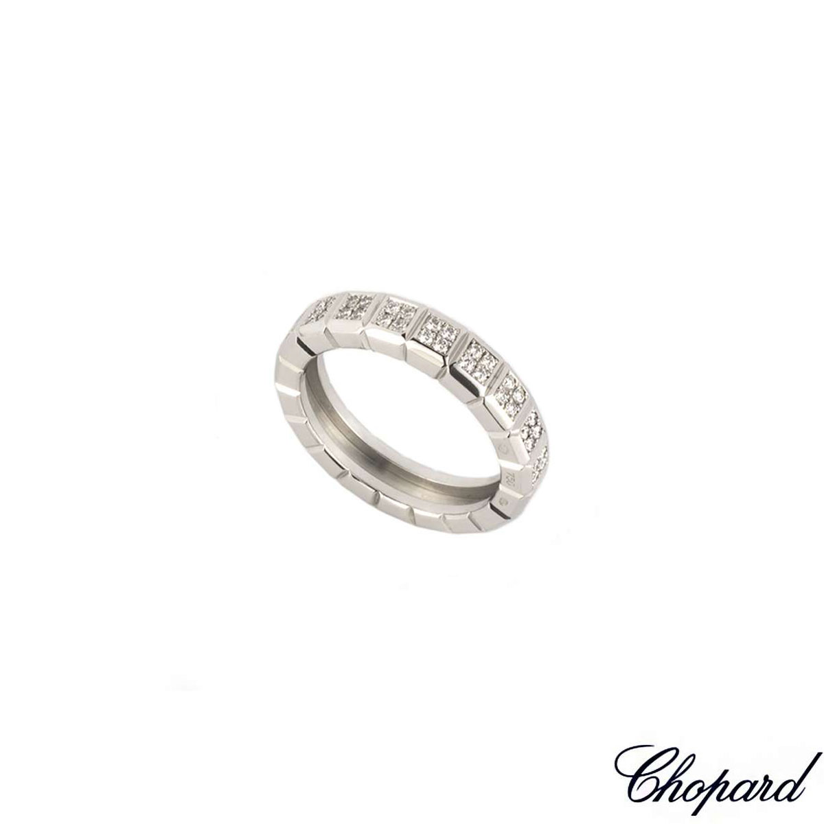 Chopard White Gold Diamond Ice Cube Ring 82/6815-1110